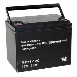 Multipower MP36-12C 12Volt 36Ah zyklenfest